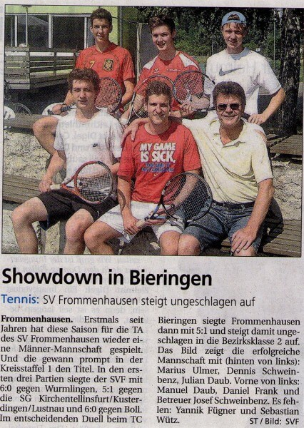 Showdown in Bieringen