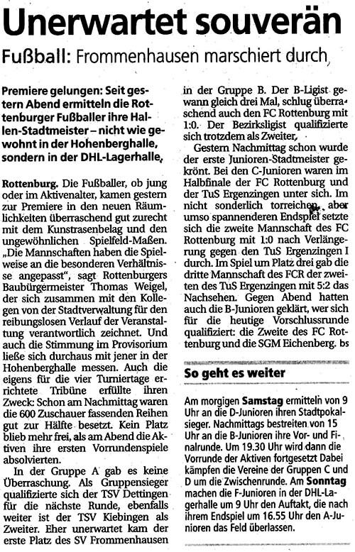 Schwäbisches Tagblatt 28.12.2013