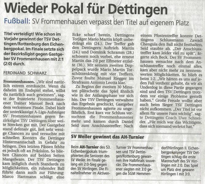 Schwäbisches Tagblatt 27.07.2015