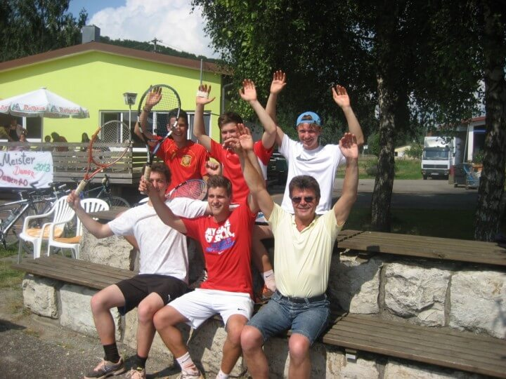 Hinten Links: Marius Ulmer, Dennis Schweinbenz, Julian Daub Vorne links: Manuel Daub, Daniel Frank, Josef Schweinbenz (Betreuer)