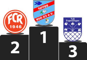 Rottenburger Stadtpokal Siegerpodium 2016