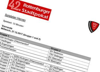 Rottenburger Stadtpokal 2017 Spielpläne