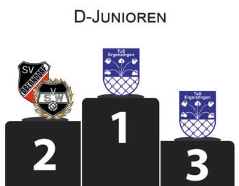 Stadtpokal D-Junioren Podium