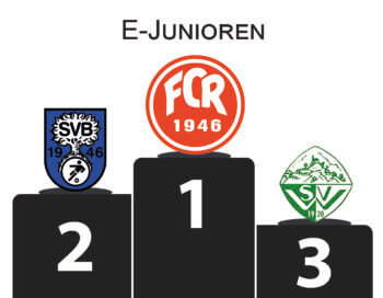 Stadtpokal E-Junioren Podium